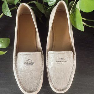 COACH Taupe Leather Loafers